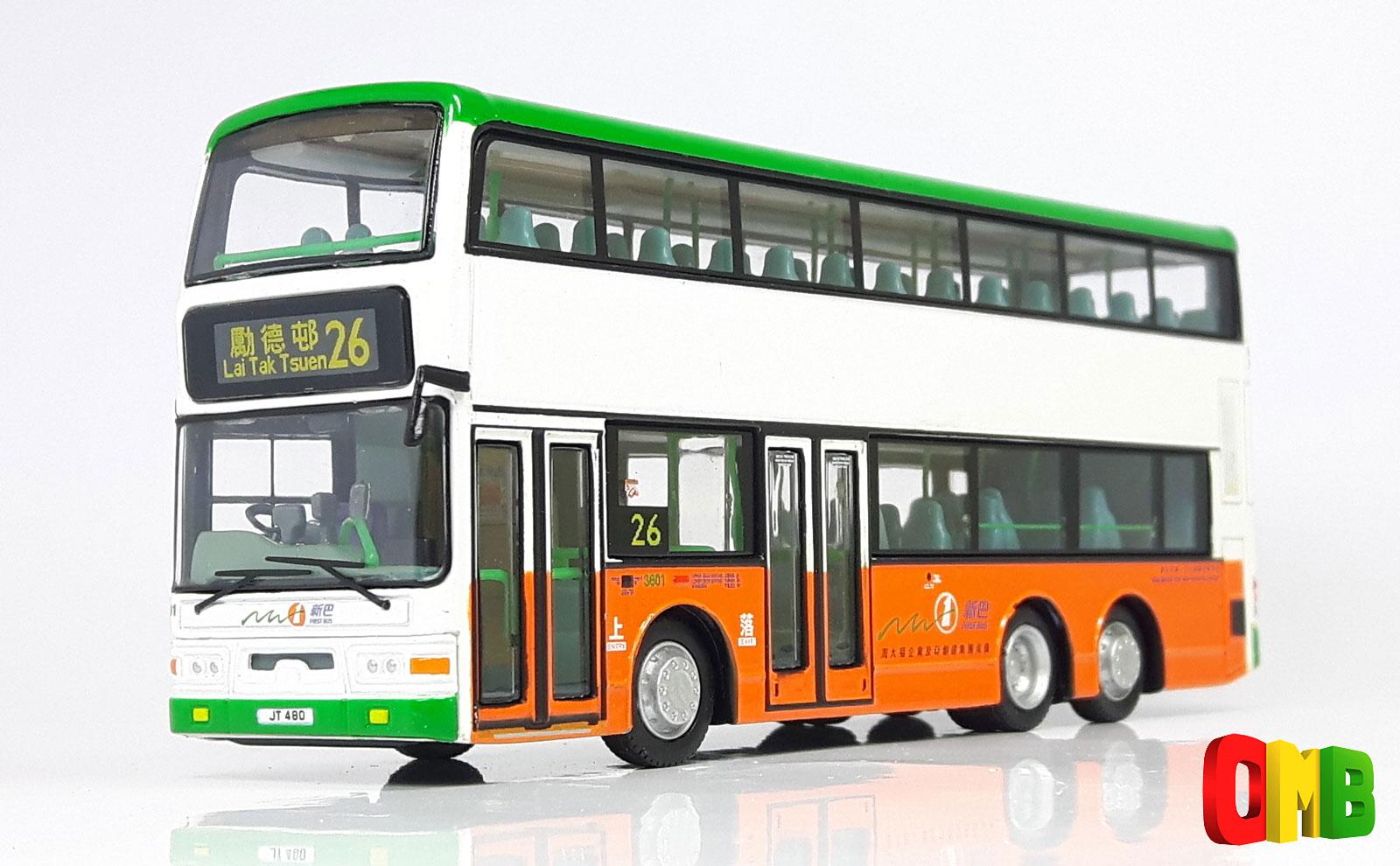 39602 80m bus model shop dennis trident new world first bus