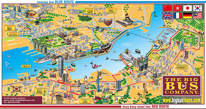 travel hong kong buses maps